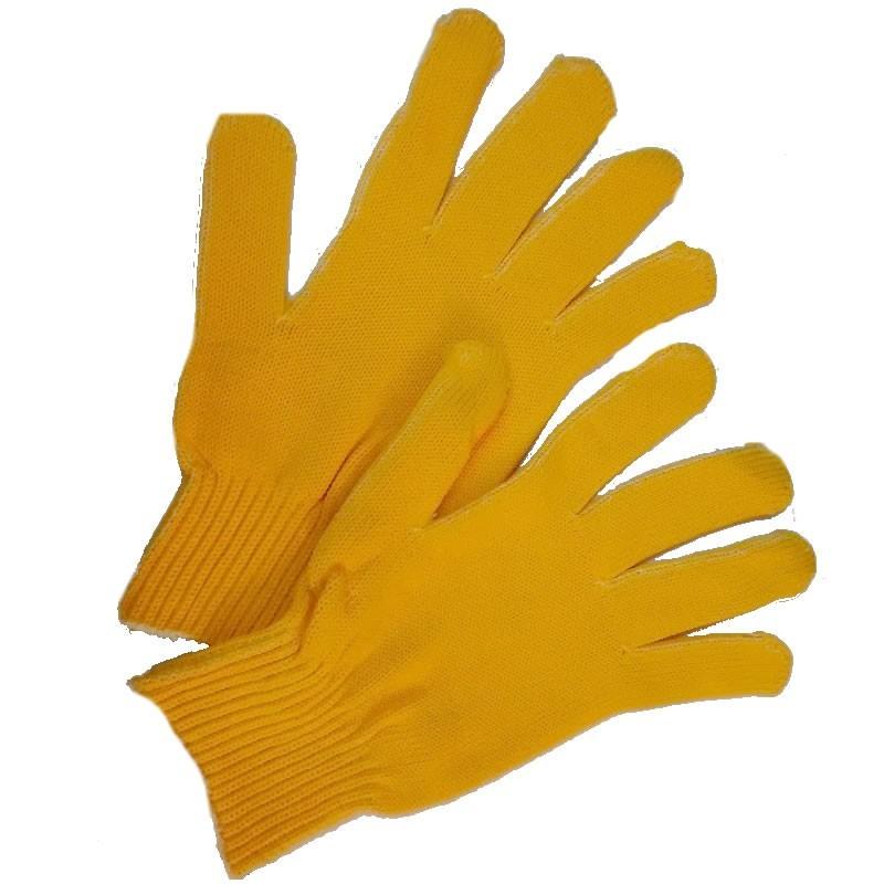 Guante amarillos para filetear