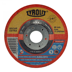 "Disco TYROLIT 4.1/2"" x 0,8 mm"